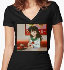 Kagome - Fast Food Women's Fitted V-Neck T-Shirt