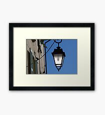 Lantern in the sky Framed Print