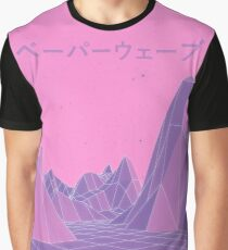 80s Vaporwave Retro Pink Graphic T-Shirt