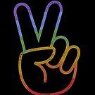 LGBT Hemd Vintage Gleichheits-Flagge Große Friedensliebe von vomaria