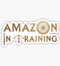 Amazon In Training Sticker