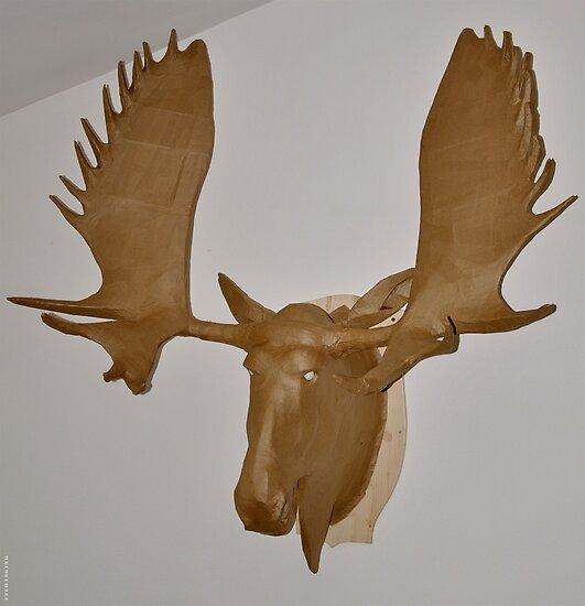 Moose Cardboard by itchingink