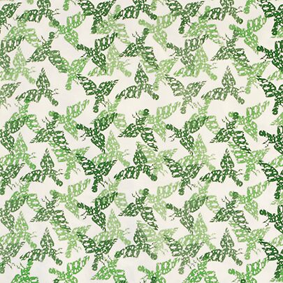 kaleidoscope birds in green by julia