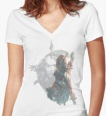 Sylvanas - Queen of the Undeads Women's Fitted V-Neck T-Shirt