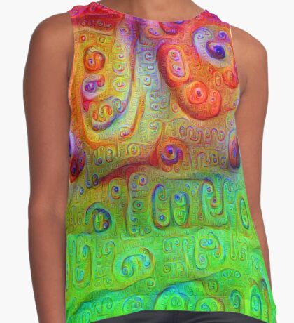 DeepDream Red to Green 5K Contrast Tank