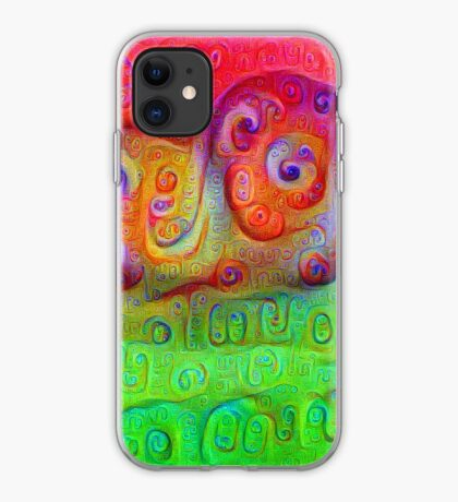DeepDream Red to Green 5K iPhone Case