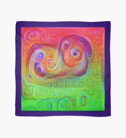 DeepDream Red to Green 5K Scarf