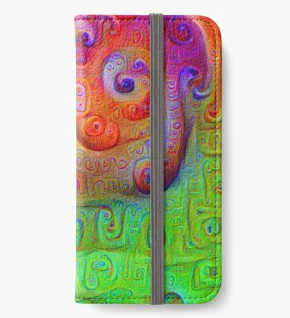 DeepDream Red to Green 5K iPhone Wallet