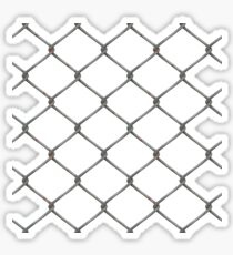 Wire Chair link fence Sticker