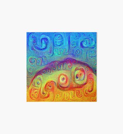 DeepDream Blue to Orange 5K Art Board Print