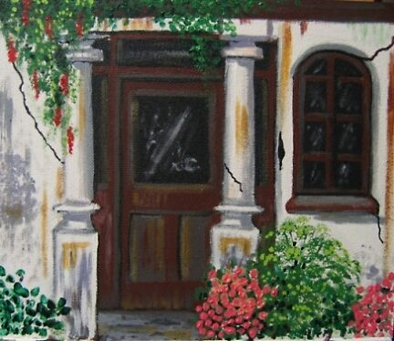 Old Hotel Entrance by Louise Henning