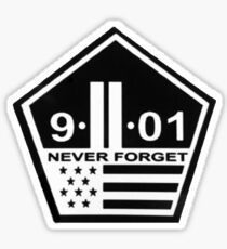9-11 never forget Sticker