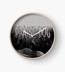 PRAISE DOG Clock