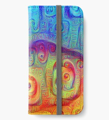 DeepDream Blue to Orange 5K iPhone Wallet