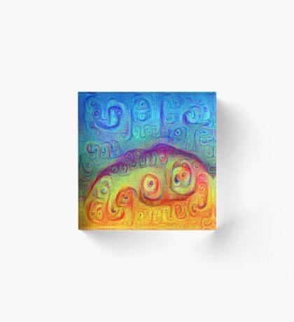 DeepDream Blue to Orange 5K Acrylic Block