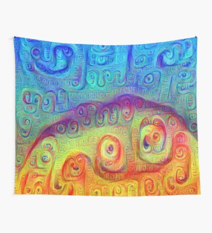 DeepDream Blue to Orange 5K Wall Tapestry