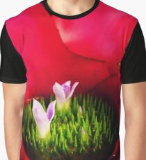 Pool in the Flower Graphic T-Shirt