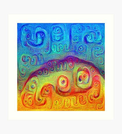 DeepDream Blue to Orange 5K Art Print