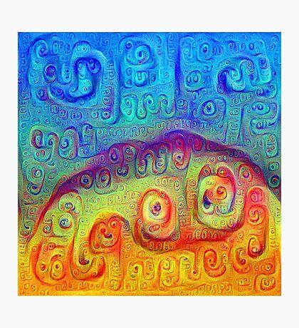 DeepDream Blue to Orange 5K Photographic Print