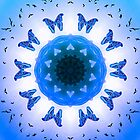 All things with wings (blue) by KalKaleidoscope