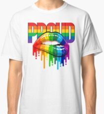 proud Rainbow Lips Pride Classic T-Shirt