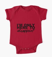 Alkaline Trio, I'm only here to disappoint lyrics t-shirt One Piece - Short Sleeve