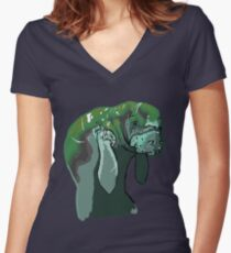 Manny The Manatee Women's Fitted V-Neck T-Shirt