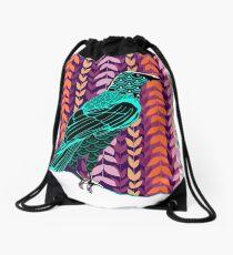 Wild Raven Drawstring Bag