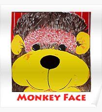 Monkey face Poster
