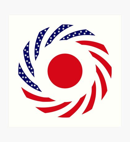 Japanese American Multinational Patriot Flag Series Art Print