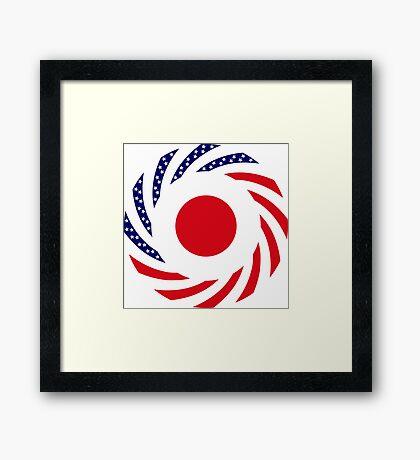 Japanese American Multinational Patriot Flag Series Framed Print