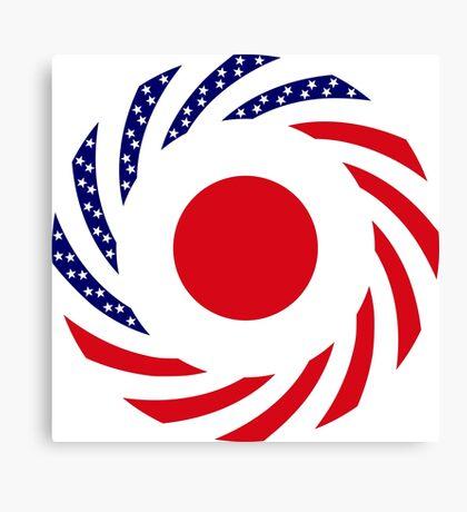 Japanese American Multinational Patriot Flag Series Canvas Print