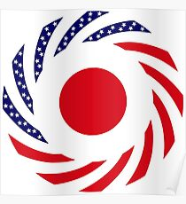 Japanese American Multinational Patriot Flag Series Poster