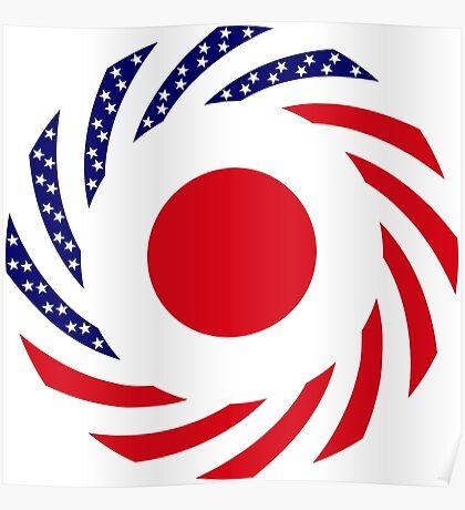 Japanese American Multinational Patriot Flag Series Poster