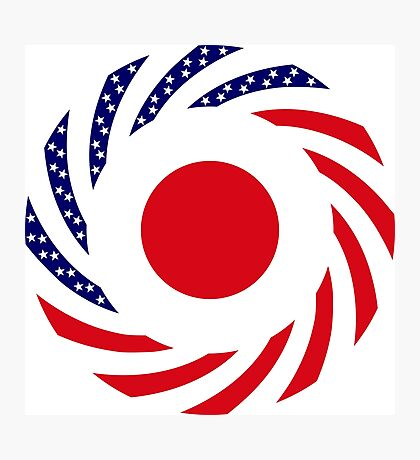 Japanese American Multinational Patriot Flag Series Photographic Print