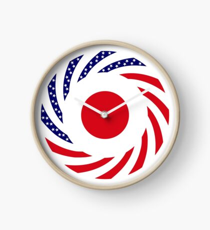 Japanese American Multinational Patriot Flag Series Clock