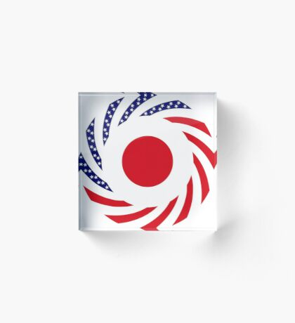 Japanese American Multinational Patriot Flag Series Acrylic Block