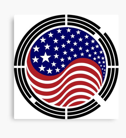 Korean American Multinational Patriot Flag Series Canvas Print