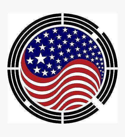 Korean American Multinational Patriot Flag Series Photographic Print
