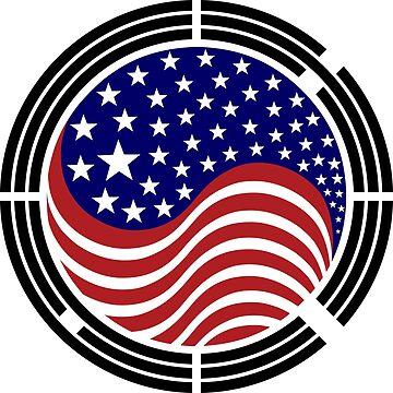 Korean American Multinational Patriot Flag Series by carbonfibreme