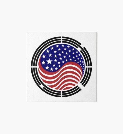 Korean American Multinational Patriot Flag Series Art Board Print