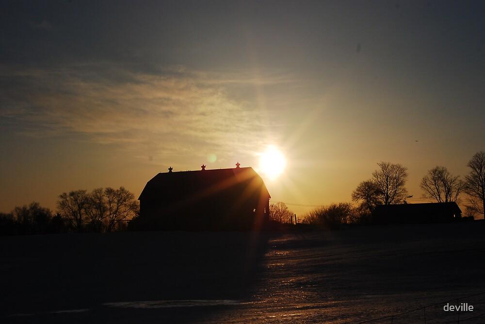 Morning Sunrise in caledon by deville