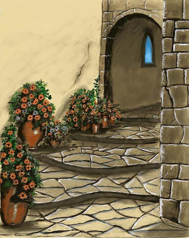 Courtyard by MayWebb