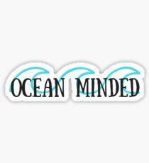 Ocean Minded Blue Waves Sticker