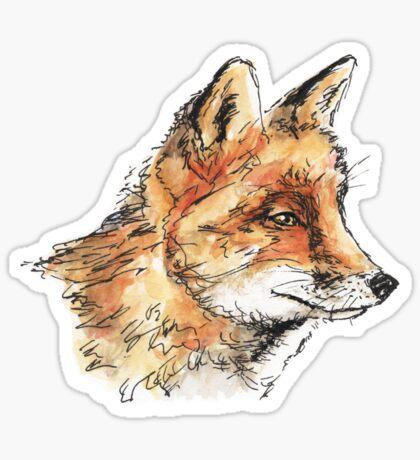 Fox Casual Sticker