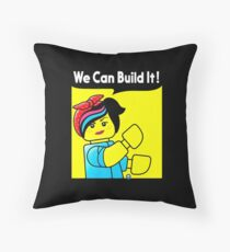 we can build it teefury Throw Pillow