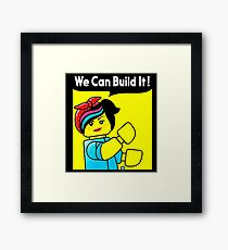 we can build it teefury Framed Print