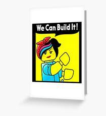 we can build it teefury Greeting Card
