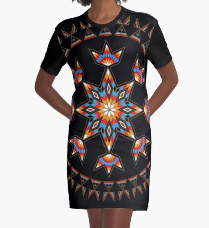 Morning Star Graphic T-Shirt Dress