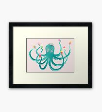 octopus ice cream social Framed Print